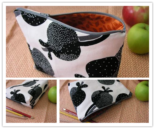 How to make lovely fabric pencil bag step by step DIY tutorial picture instructions