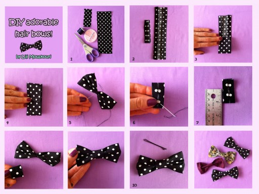 How to make lovely korean style hair pin step by step DIY tutorial picture instructions
