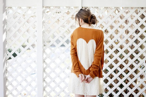 How to make lovely lace heart cardigan step by step DIY tutorial instructions