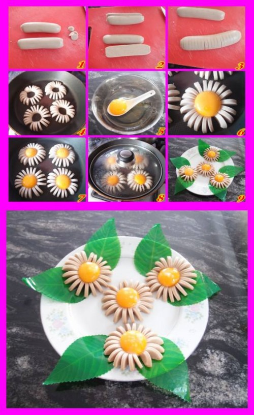 How to make lovely sunflower shaped breakfast step by step DIY tutorial instructions