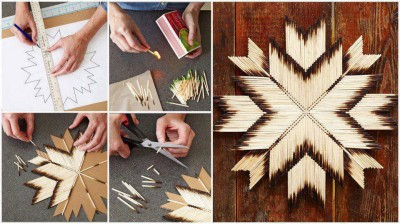 How to make matches decor flowers step by step DIY tutorial instructions