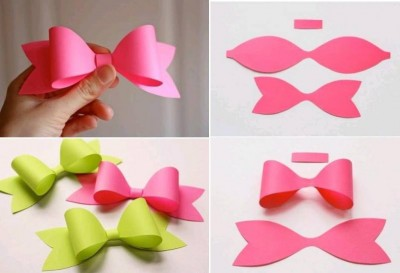 How to make paper craft bow tie step by step DIY tutorial instructions