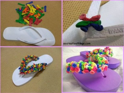 How to make pretty balloon sneaker step by step DIY tutorial instructions