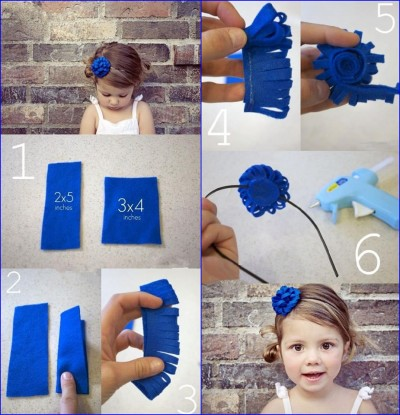 How to make pretty hair pin flowers step by step DIY tutorial instructions