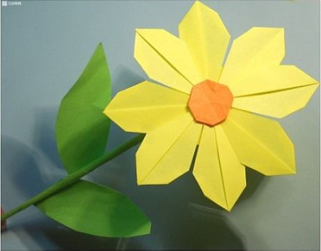 How To Make Pretty Paper Craft Origami Yellow Flower Step By DIY Tutorial Instructions Thumb