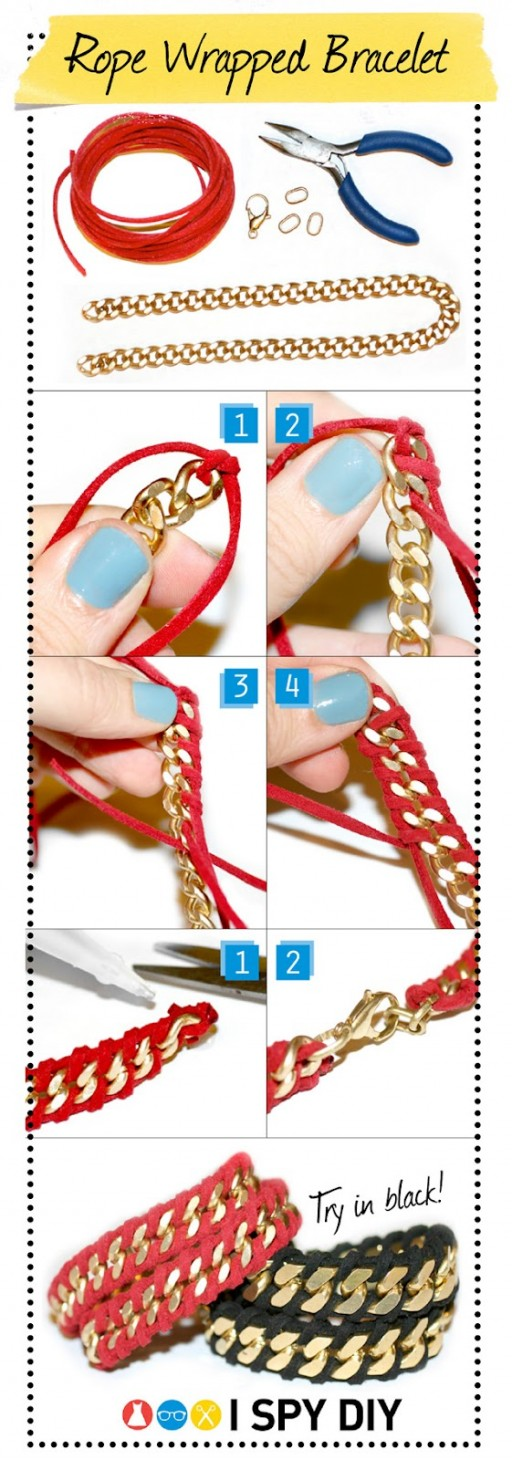 How to make punk style metel feel bracelet step by step DIY tutorial picture instructions