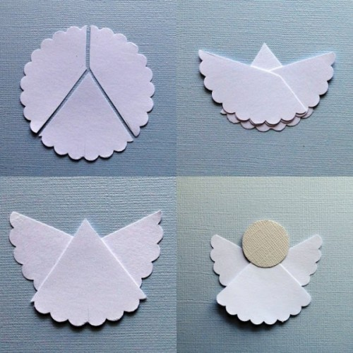 Christmas Crafts Paper Angels : How to make simple origami angel paper craft step by