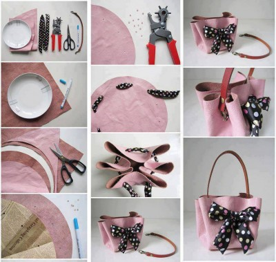 How to make stylish hand bag step by step DIY tutorial instructions