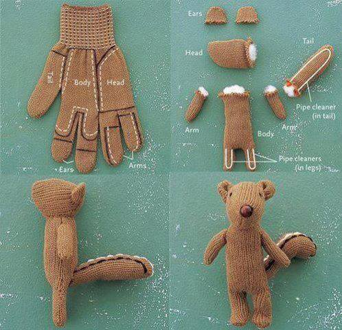 How To Make Teddy Bear With A Glove Step By DIY