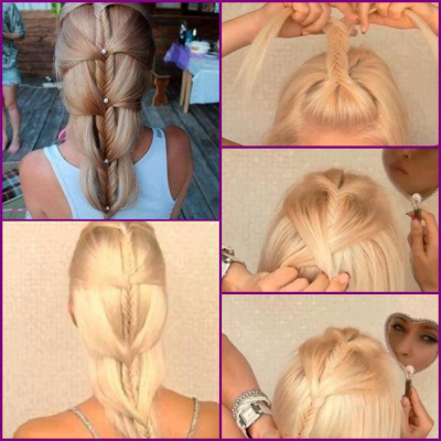 How to make your beautiful hair style step by step DIY tutorial instructions