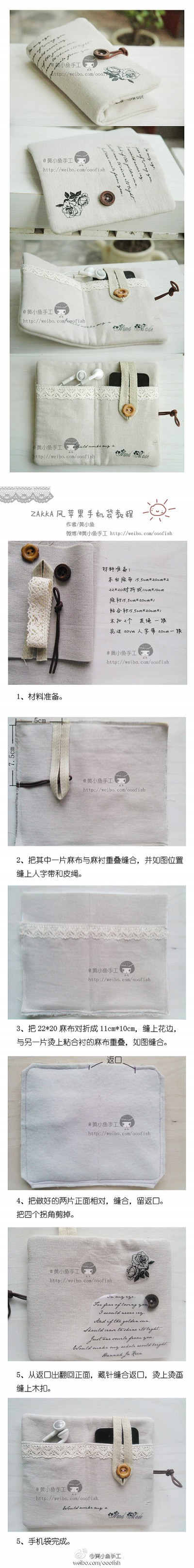How to make your cool iphone bag step by step DIY tutorial instructions