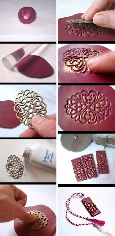 How to make your cool unique clay necklace step by step DIY tutorial instructions