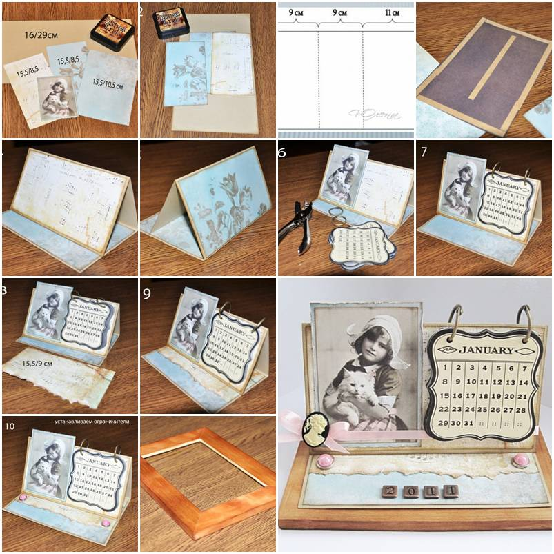 How To Make Your Own Handmade Calendar Step By Step DIY
