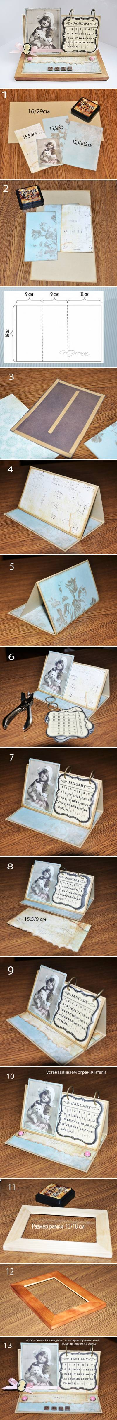 How to make your own Handmade Calendar step by step DIY instructions