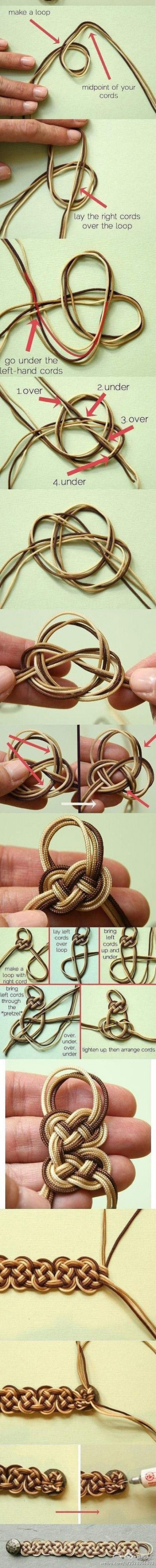 How to make your own beautiful bracelet step by step DIY tutorial picture instructions