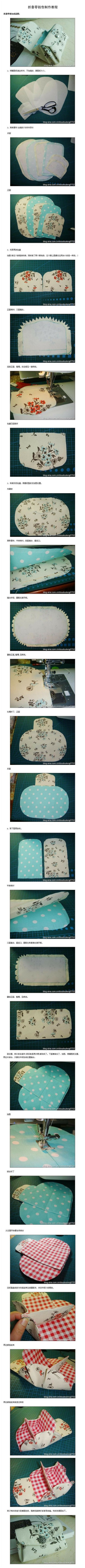 How to make your own beautiful coin bag step by step DIY tutorial picture instructions