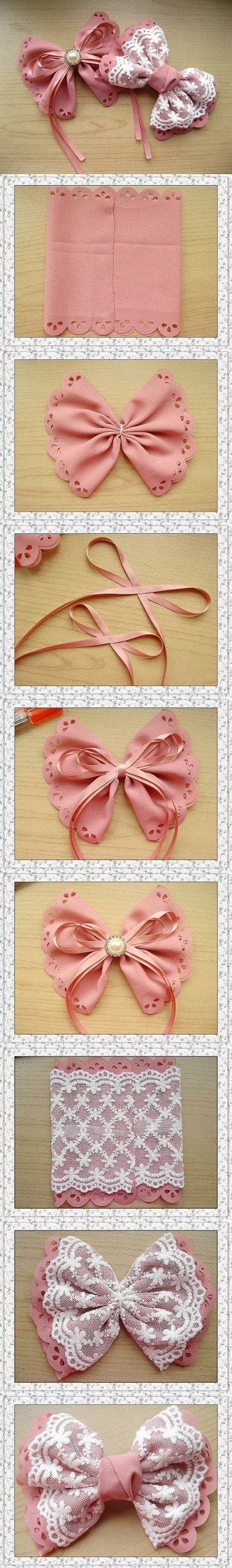 How to make your own lovely bow hairpin step by step DIY tutorial picture instructions