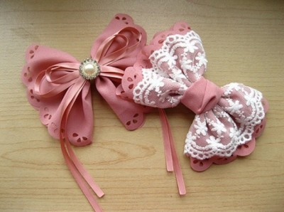 How to make your own lovely bow hairpin step by step DIY tutorial picture instructions thumb