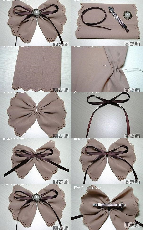 How to make your own pretty bow hairpin step by step diy for How to make easy crafts step by step