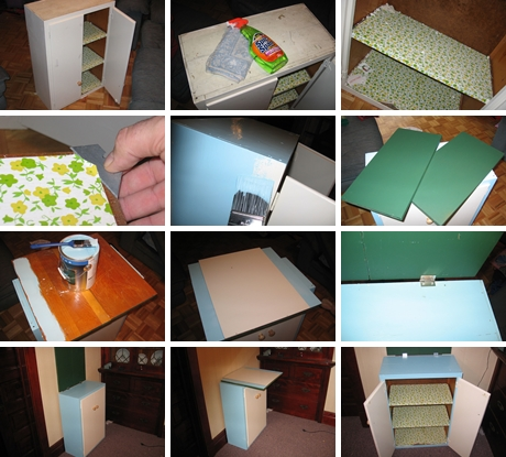 How to recycle an old kitchen cabinets into a child desk - Recycle old kitchen cabinets ...