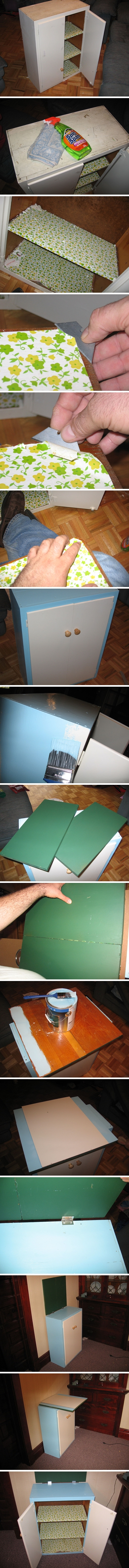 How to recycle an old kitchen cabinets into a child desk step by step DIY tutorial instructions