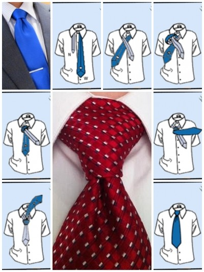 How to tie a tie pratt knot step by step DIY instructions