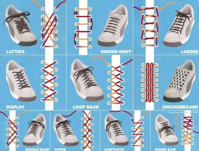 Top 10 ways to tie shoe lace