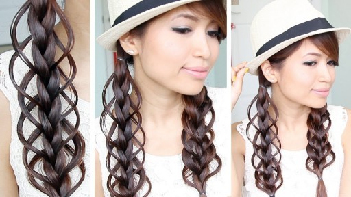 How to do cute Feather Loop Braid Hairstyle for summer step by step DIY tutorial instructions