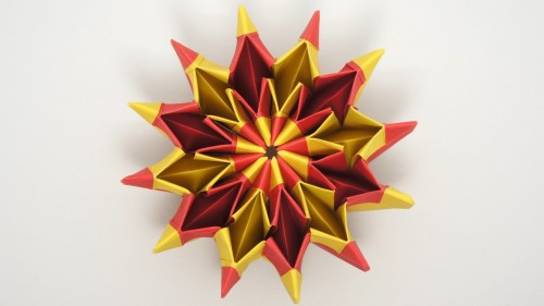 How to fold cool origami Yami Yamauchi Fireworks step by step DIY tutorial instructions