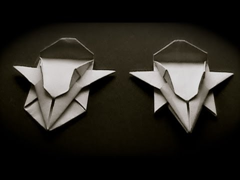 How to fold origami paper craft Speed Racer's Mach 5 car step by step DIY tutorial instructions