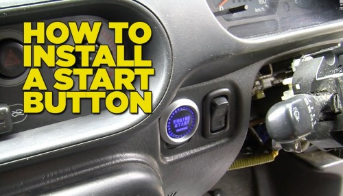 How to Install A Start Button to your car step by step DIY tutorial instructions