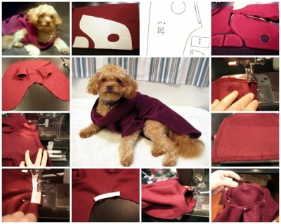 how to make Dog snuggie step by step DIY tutorial instructions thumb