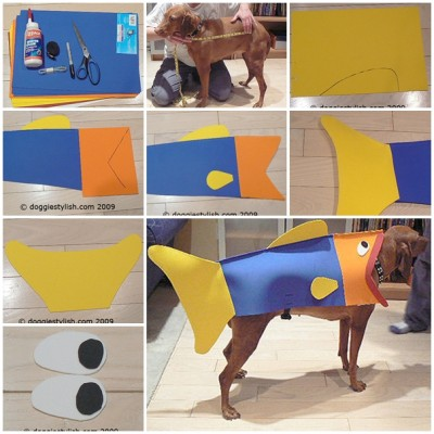 how to make Fish Halloween costume for dog step by step DIY tutorial instructions thumb