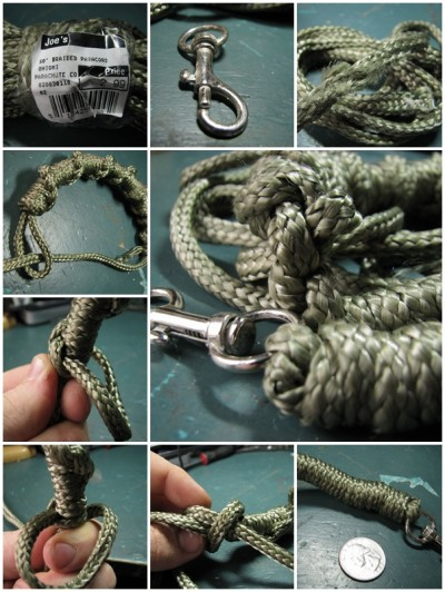 how to make Paracord dog leash step by step DIY tutorial instructions thumb