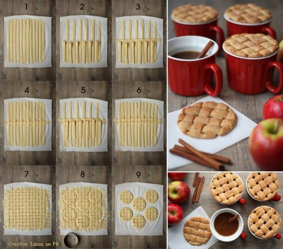 how to make Pie Crust Mug Toppers step by step DIY tutorial instructions
