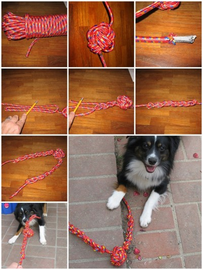how to make Rope Dog toy step by step DIY tutorial instructions