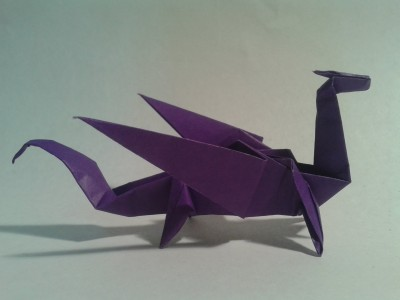 How to make an easy origami dragon step by step DIY tutorial instructions