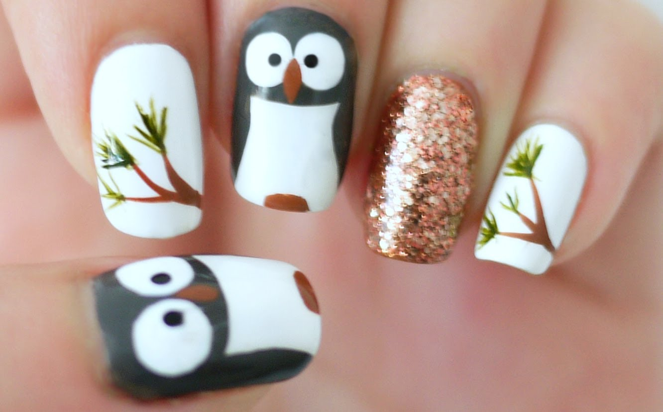 How To Make Cool Owl Nail Art Manicure Step By Step Diy Tutorial