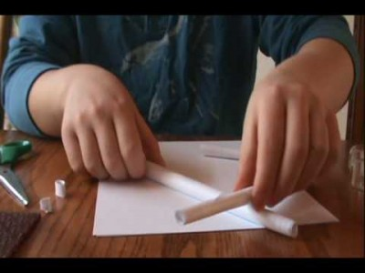 How to make Make A Paper Gun That Shoots without blowing step by step DIY tutorial instructions