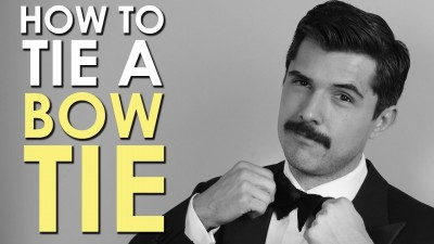How to tie a bow tie nicely step by step DIY tutorial instructions