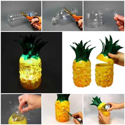 How to make Pineapple Bottle step by step DIY tutorial ...