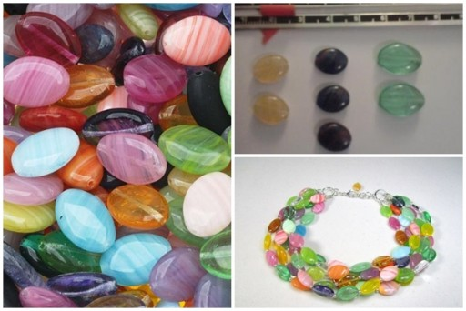 Beautiful Czech Glass Oval Beads for making bracelets, instructions shared before