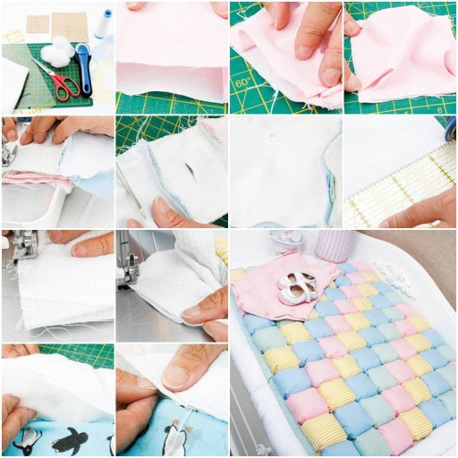 How To Make Baby Diaper Change Rug step by step DIY tutorial instructions thumb