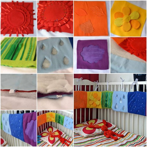 How To Make Baby bed Side Toy and early child education book Decoration step by step DIY tutorial instructions thumb