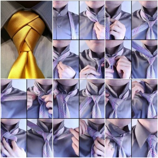 How To Make Beautiful Tie Knot step by step DIY tutorial instructions thumb