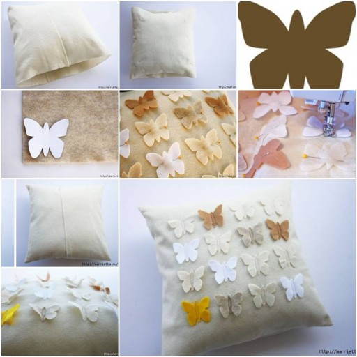 How To Make Butterfly down Pillow Cover step by step DIY tutorial instructions thumb