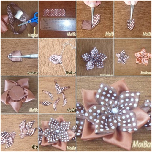 How To Make Coffee Flower Hairpin step by step DIY tutorial instructions thumb