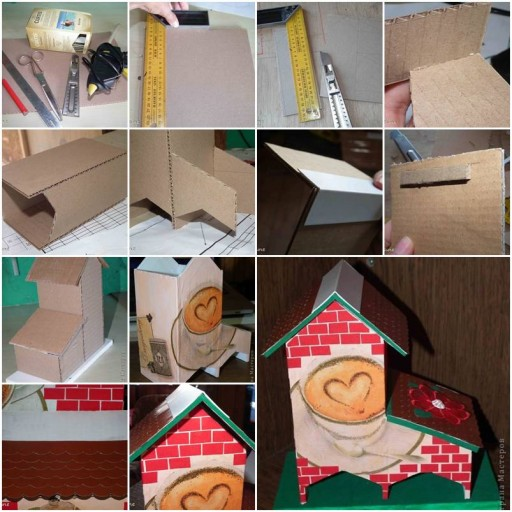 How To Make Cute Cardboard Tea Bag Dispenser step by step DIY tutorial instructions thumb