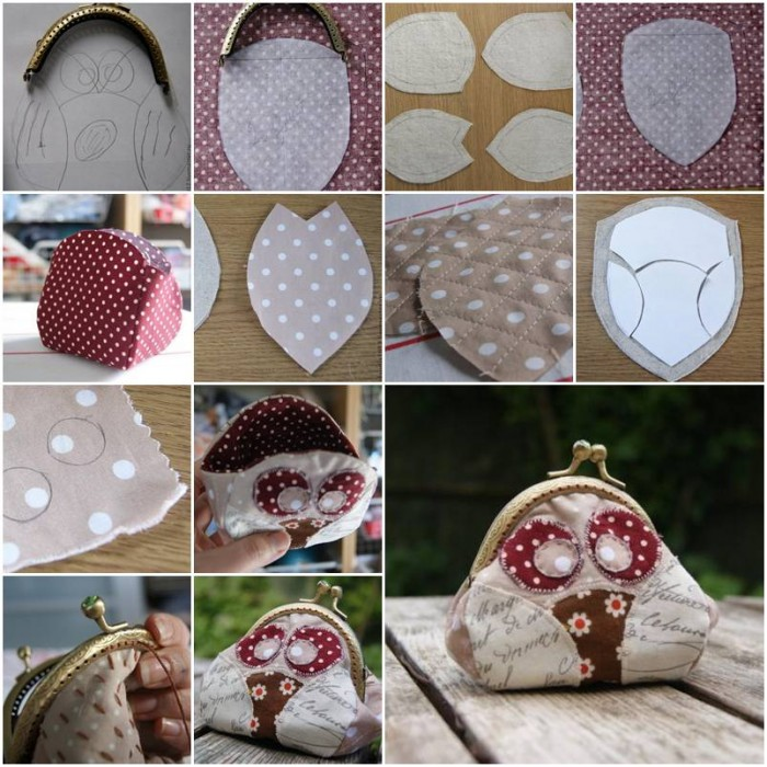 How To Make Cute Fabric Owl Purse Step By Step Diy
