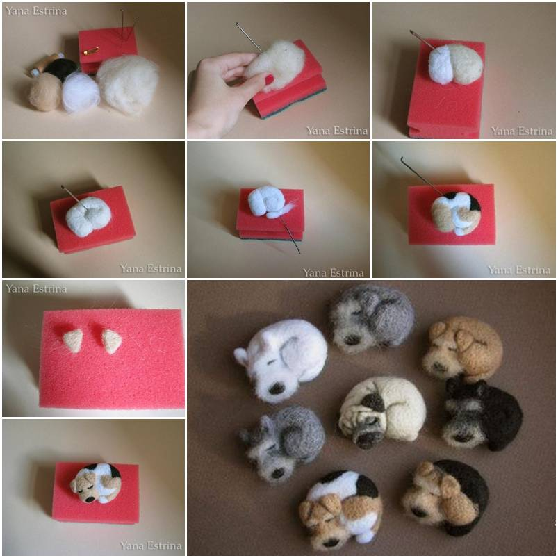 Make Cute Little Wool Dog Step By DIY Tutorial Instructions Thumb